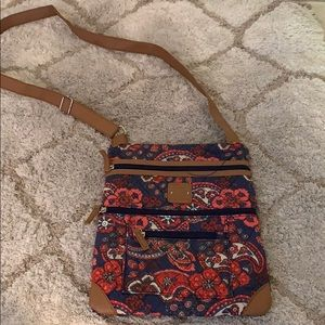 Stone Mountain paisley cross body bag